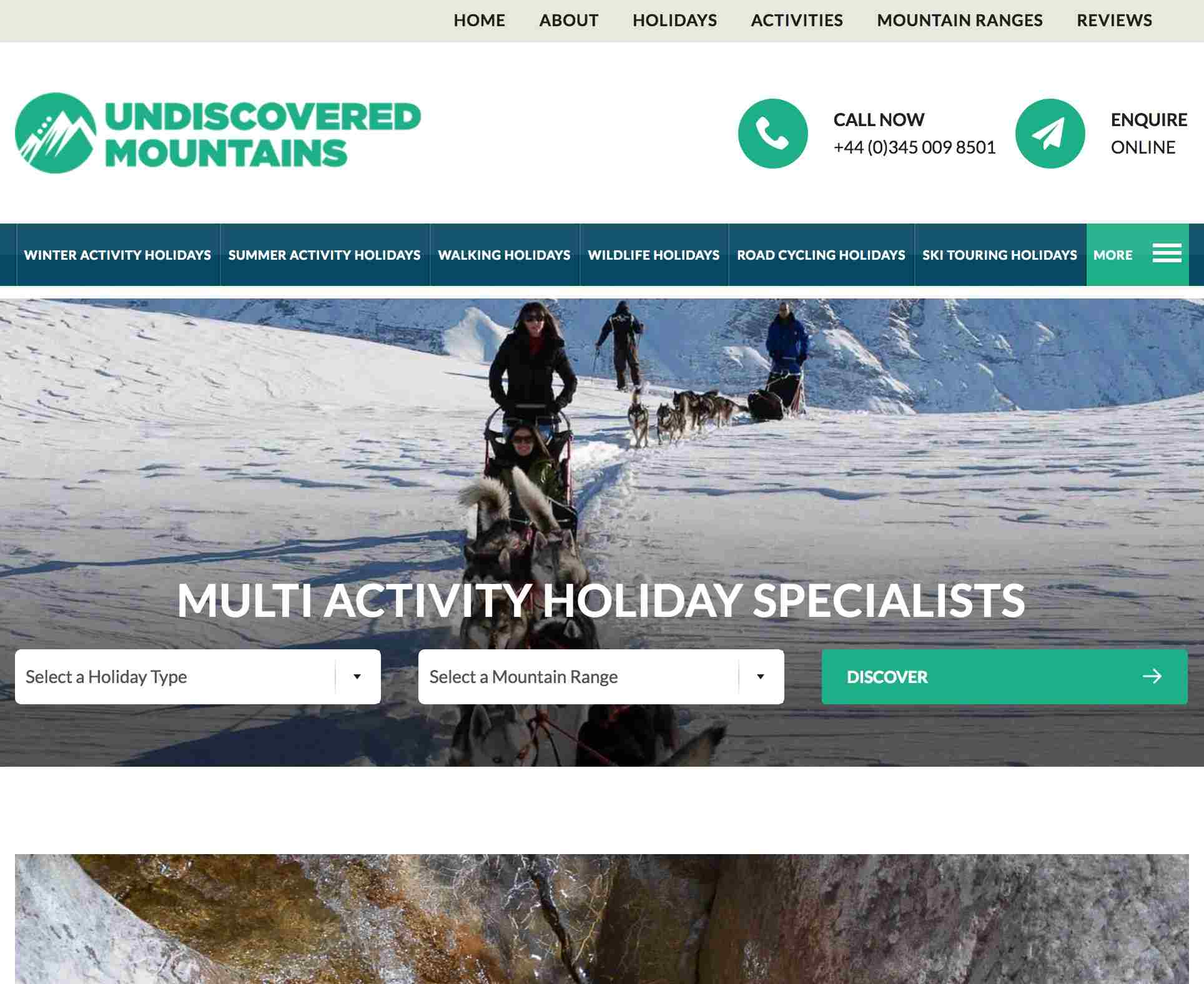 Undiscovered Mountains Case Study
