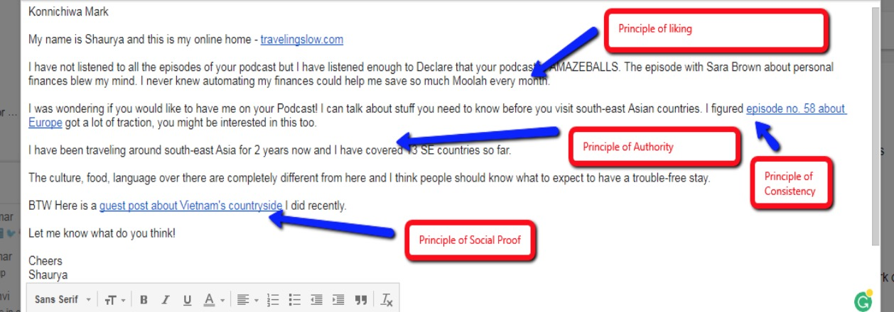 example email outreach