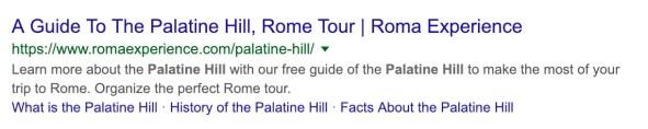 roma sitelinks
