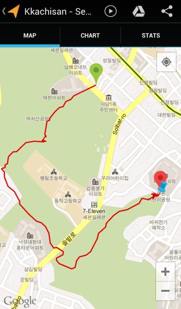 Kkachisan (57:56, 1.90 km)