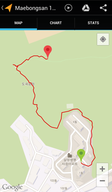 Maebongsan 1 (18:50, 0.69 km)