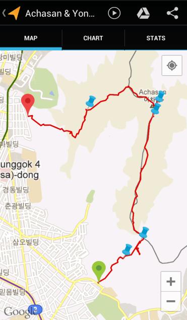 Achasan & Yongmasan (3:49:47, 5.77 km)