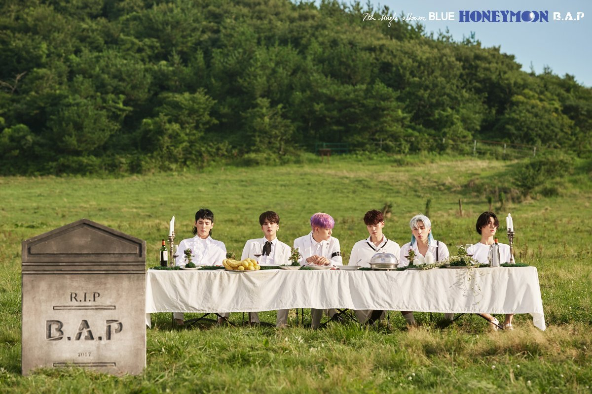"B.A.P Goes on an Exhilarating ""Honeymoon"" in Blue Album"
