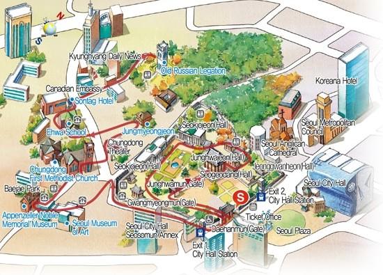 seoul walking tour route