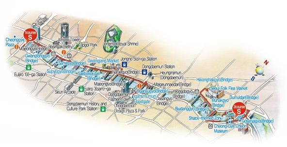 Map of Walking Tour Route, www.visitseoul.net