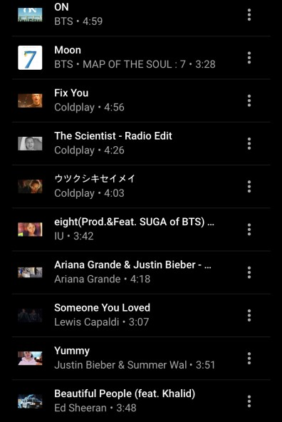 BTS Playlist