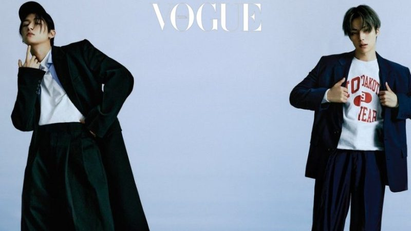 MONSTA X's I.M And Minhyuk Play It Cool In The Latest Pictorial For Vogue Korea