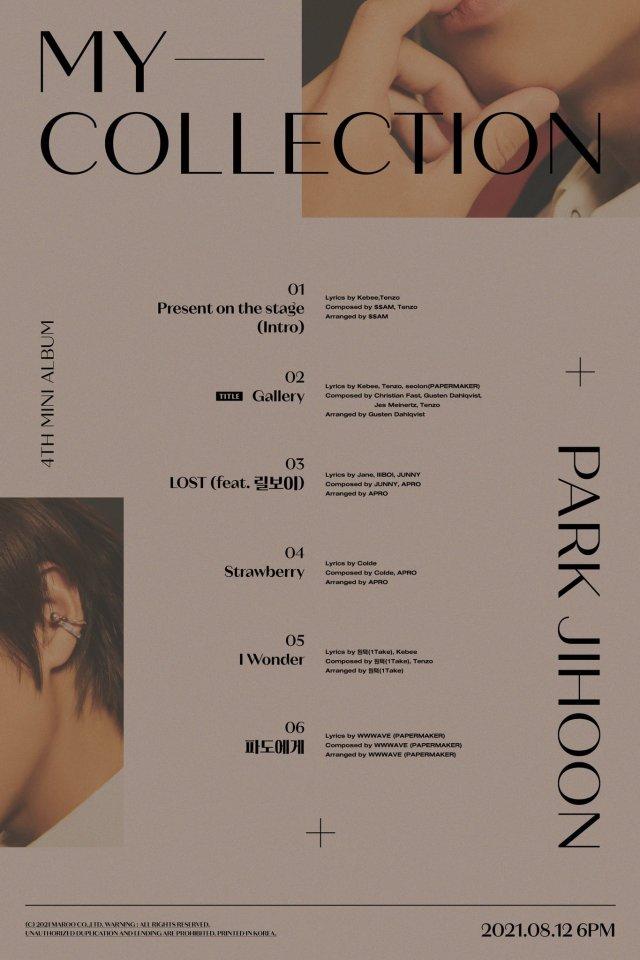 Park Jihoon_My_Collection_Track_List