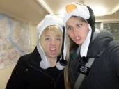 This is a scary pic...but our Korean grandma bought us animal hats for Christmas haha so I had to share a pic