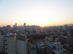 View from our apt in Yeoung-deung-po. We live on the 14th (top) story of our building & have a really neat view!