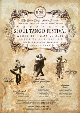 2016 Seoul Tango Festival Poster