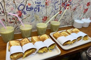 釜山。札嘎其站 | 新昌烤麵包 (신창토스토)~國際市場裡的樸實烤土司