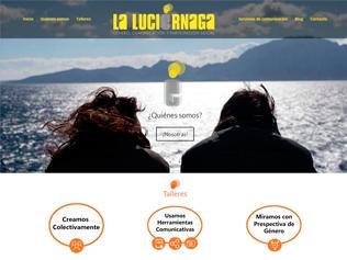 Página web en WordPrees La Luciérnaga