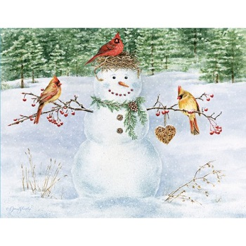 Lang Boxed Christmas Cards Happy Snowman Artist Jane