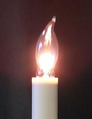 Light Bulb Flame Tip Candle Light Bulb Clear Pack Of 3
