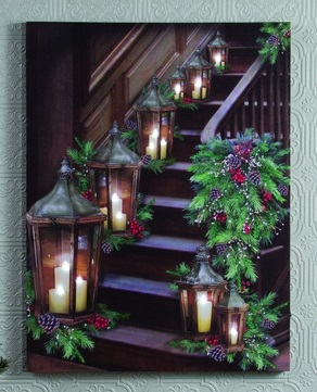 Lighted Canvas Pictures Stairway