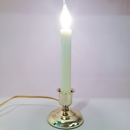 Window Candle Cape Cod Electric Light Brass ONOFF