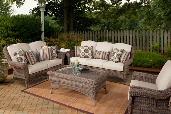 resin wicker patio furniture sets Amalfi Outdoor Patio Resin Wicker Furniture