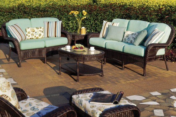 resin wicker patio furniture sets Luana Outdoor Resin Wicker Patio Furniture Set
