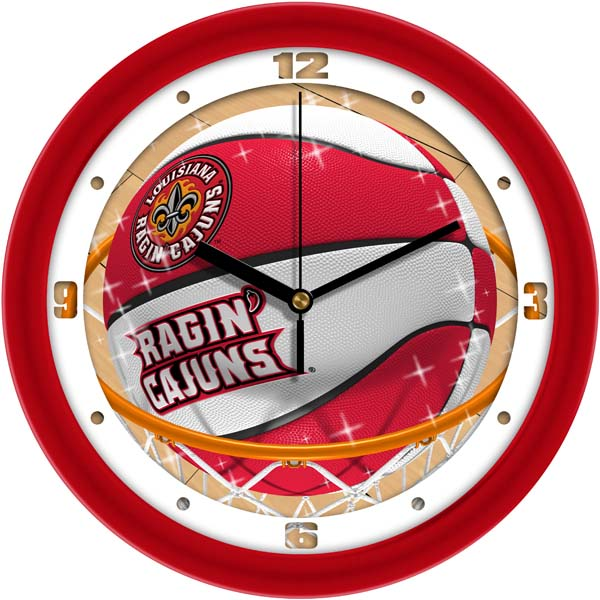Louisiana Lafayette Slam Dunk Wall Clock