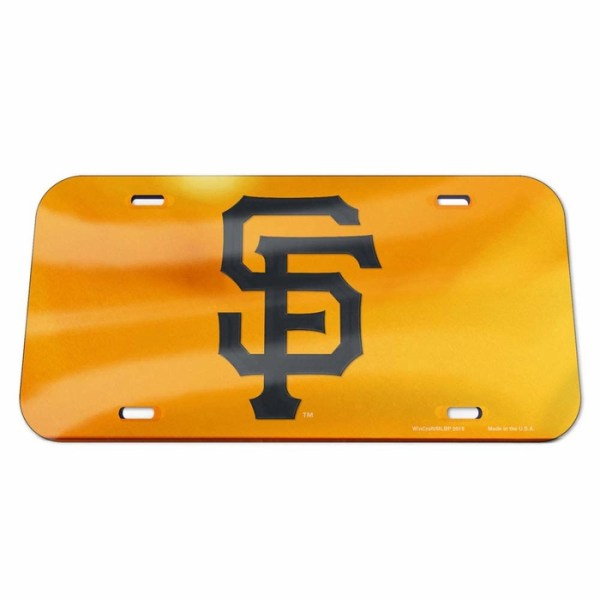 San Francisco Giants License Plate - Crystal Mirror - Logo