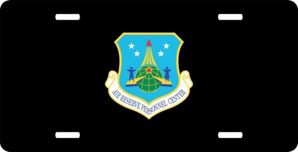 US Air Force Air Reserve Personnel Center License Plate
