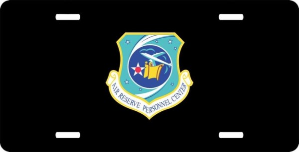 US Air Force Reserve Personnel Center License Plate