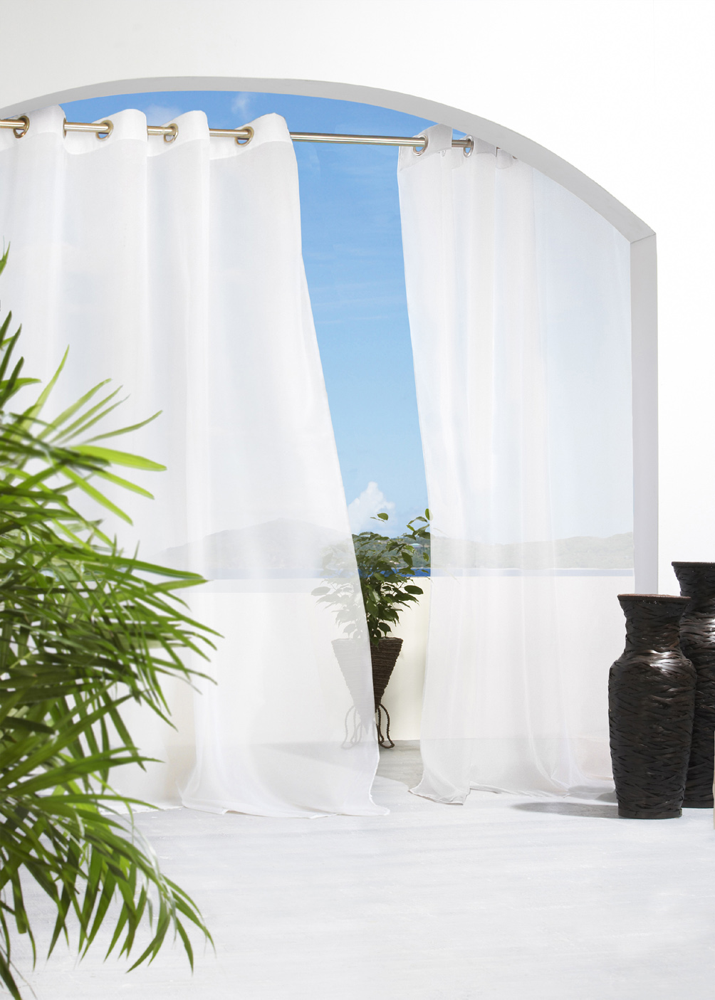 outdoor curtains window patio and