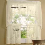 Hydrangea Semi Sheer Tiers Valance And Swag