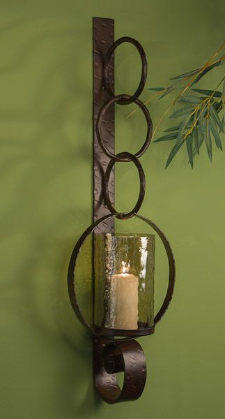 Dessau Home Bronze Ring Wall Sconce Home Decor $151.96 ... on Wall Sconce Lighting Decor id=32426