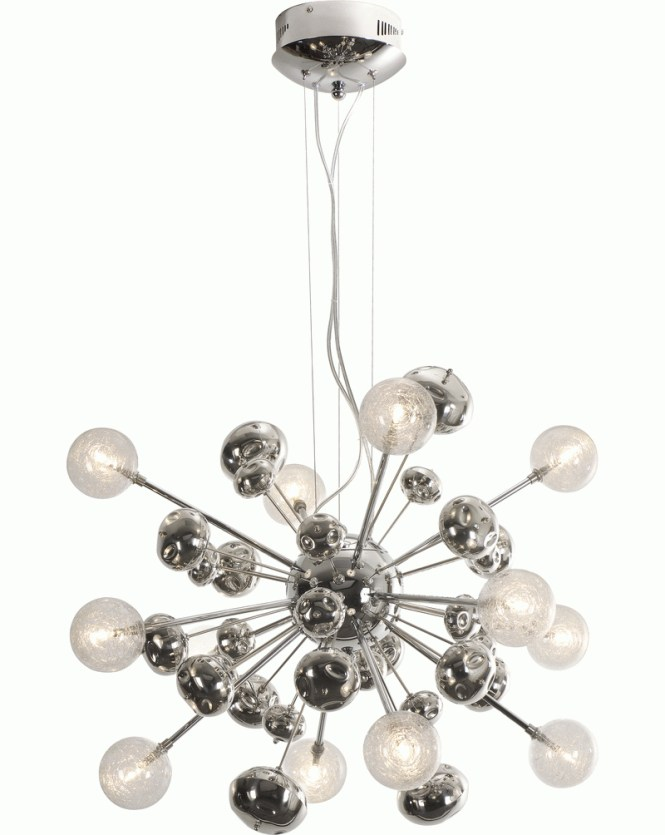 Tp6950 12 Trend Starburst Chandelier With Polished Chrome Discontinued Product
