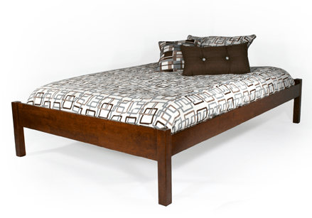 Modern Basic Bed Platform Bed Queen Size Bedroom Set VA