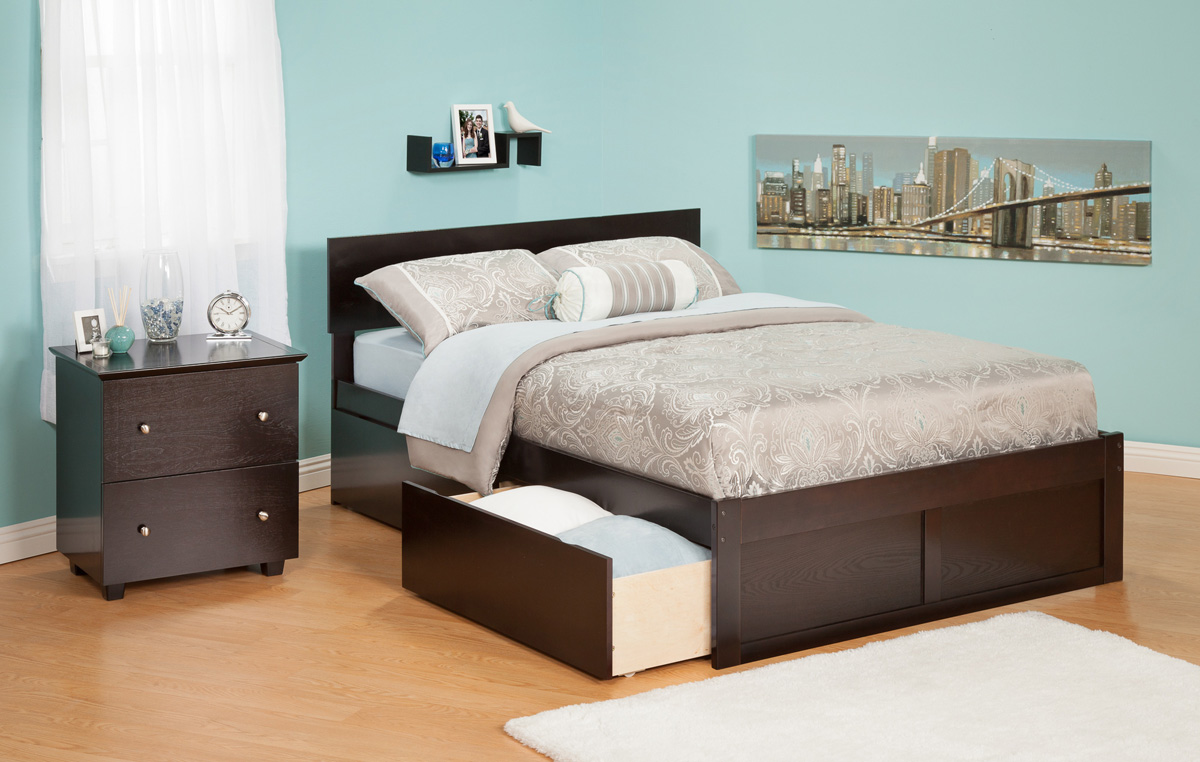 Urban Lifestyle Orlando Queen Size Platform Bed Flat Panel