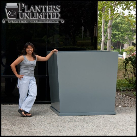 Square Fiberglass Planters   Commercial Sized Planters   Large     Square Fiberglass Planters Click to enlarge