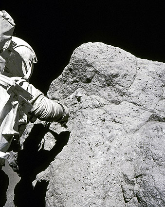 Apollo 17 Astronaut Harrison Schmitt EVA Photo Print for Sale