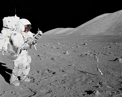 Apollo 17 Astronaut Harrison Schmitt & Moon Photo Print ...