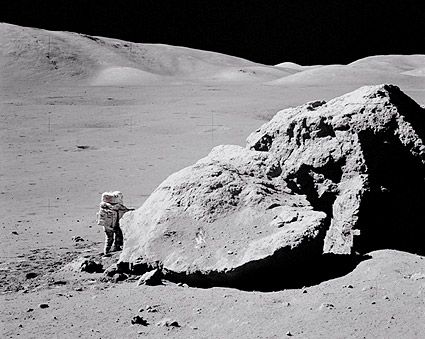 Apollo 17 Harrison Schmitt by Moon Boulder Photo Print for ...