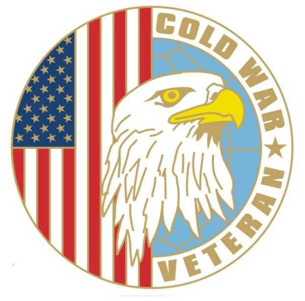 "Cold War Veteran 1 1/8"" Lapel Pin"