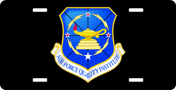 US Air Force Quality Institute License Plate
