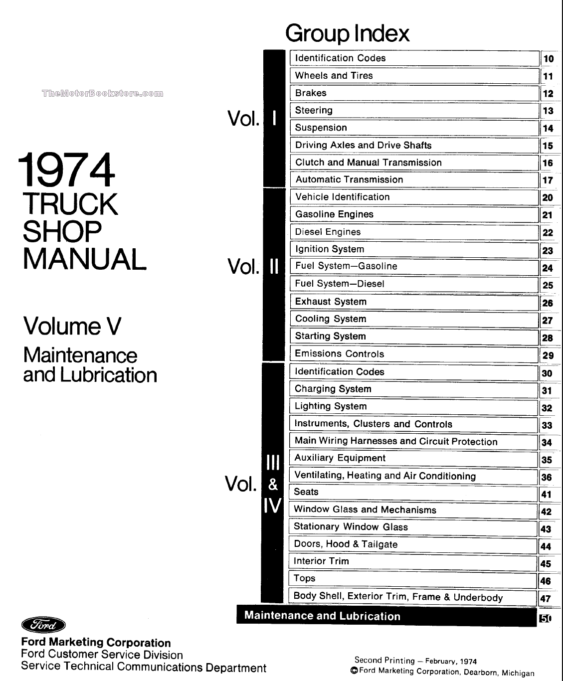 Ford Truck Factory Shop Manual