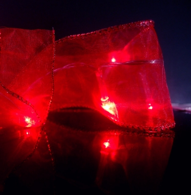 Red Battery Operated Organza Ribbon Light From PaperLanternStore At The Best Bulk Wholesale Prices