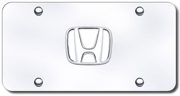 Mirrored Plate License Honda