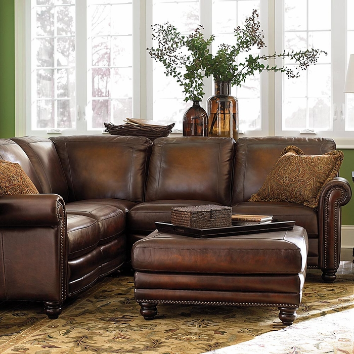 Hamilton Leather Sectional Sofa By Bassett Furniture : bassett beckham sectional - Sectionals, Sofas & Couches