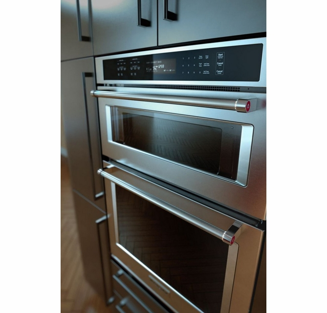 koce500ess kitchenaid 30 even heat true convection combination wall oven with built in microwave and satinglide extension rack stainless steel