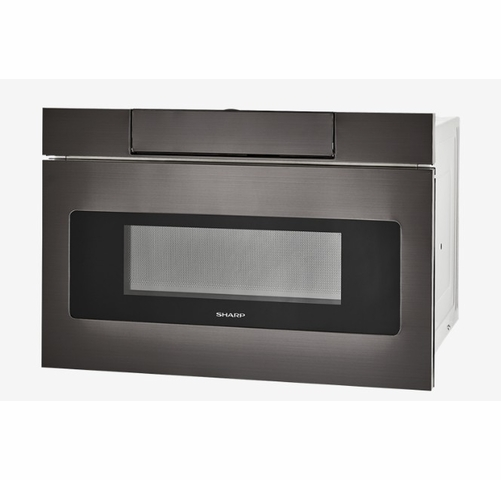 smd2470ah sharp 24 microwave drawer oven with hidden control panel and sensor cook black stainless steel