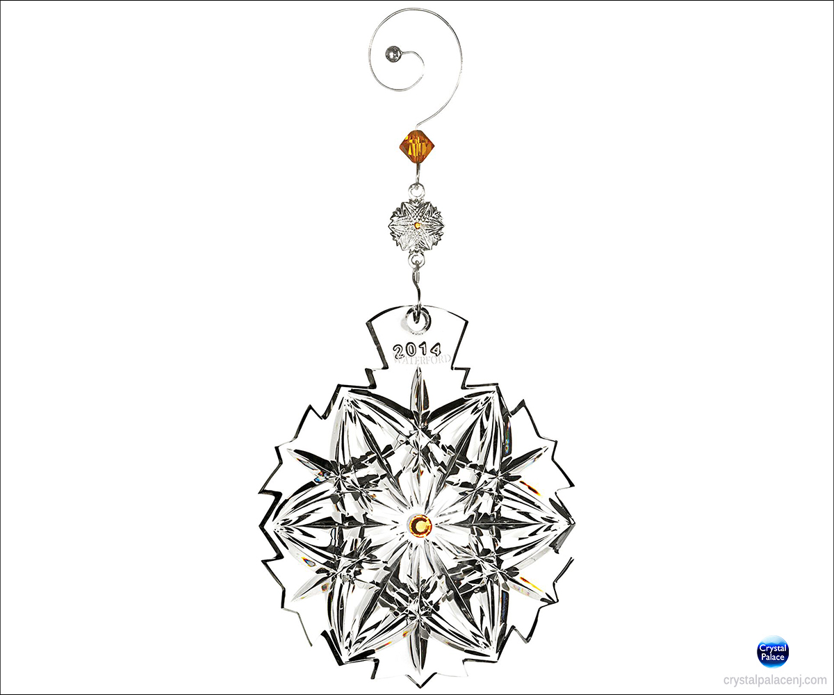 Waterford Snowflake Wishes Peace Ornament
