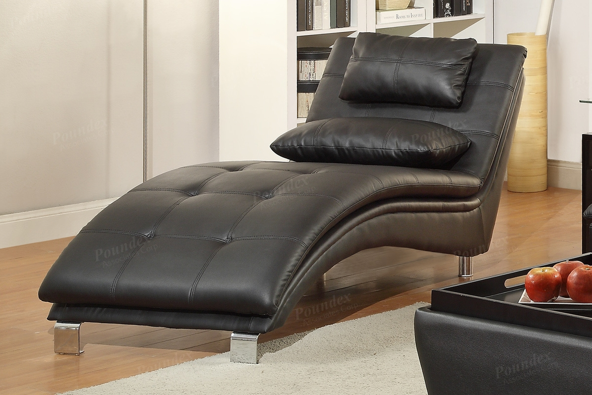 Black Leather Chaise Lounge Steal A Sofa Furniture Outlet Los Angeles CA