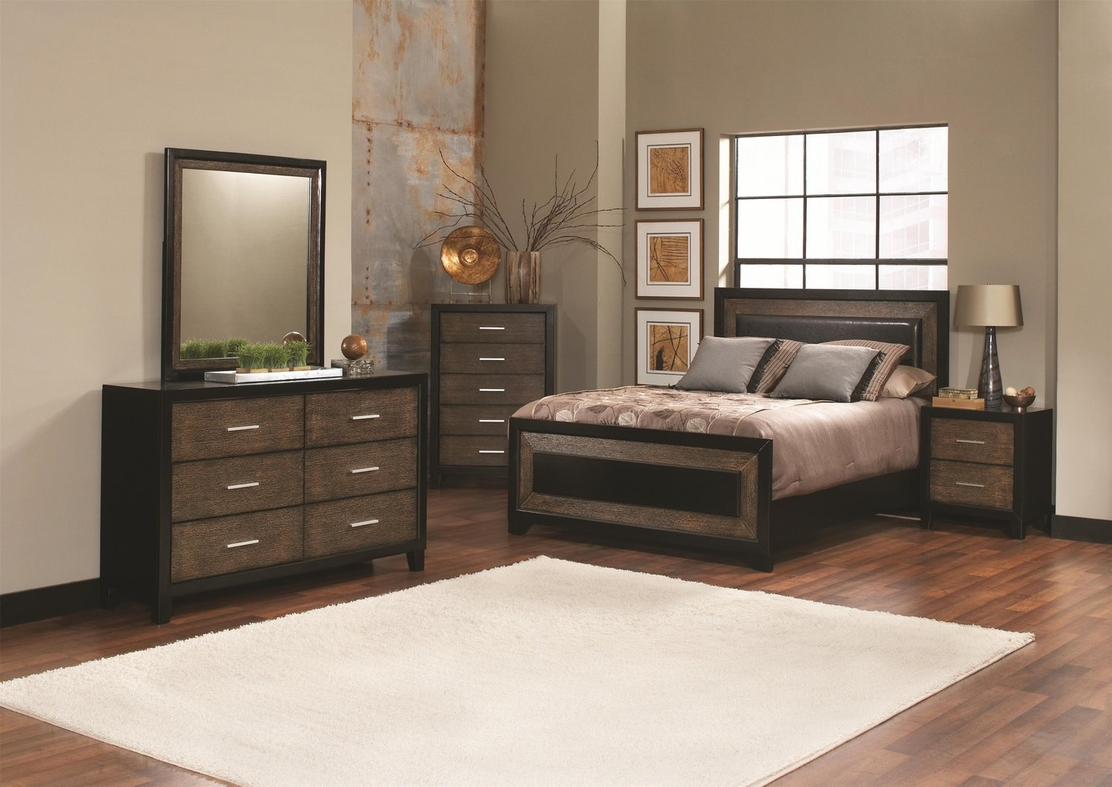 Black Wood California King Size Bed