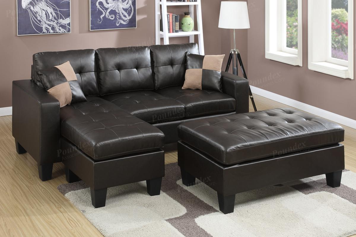 Brown Leather Sectional Sofa And Ottoman Steal A Furniture : brown leather sectional with ottoman - Sectionals, Sofas & Couches