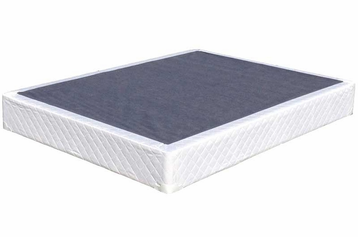 White Fabric Box Spring Steal A Sofa Furniture Outlet
